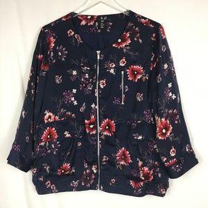 H&M Floral Print Lightweight Jacket